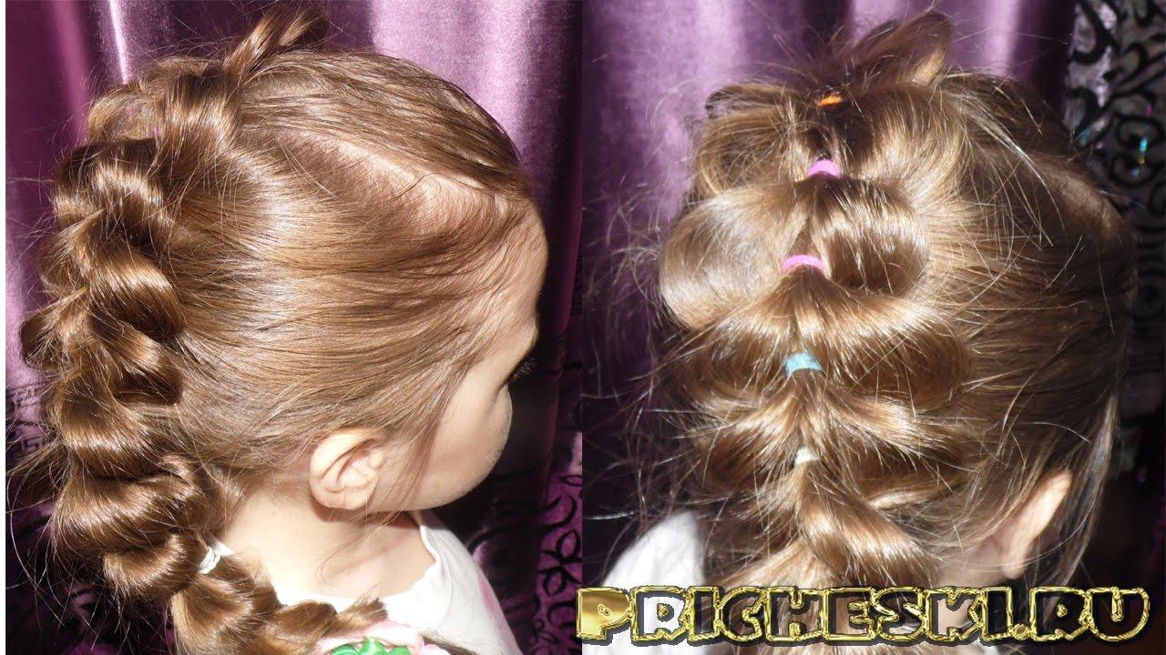 Причёски для девочек из резинок