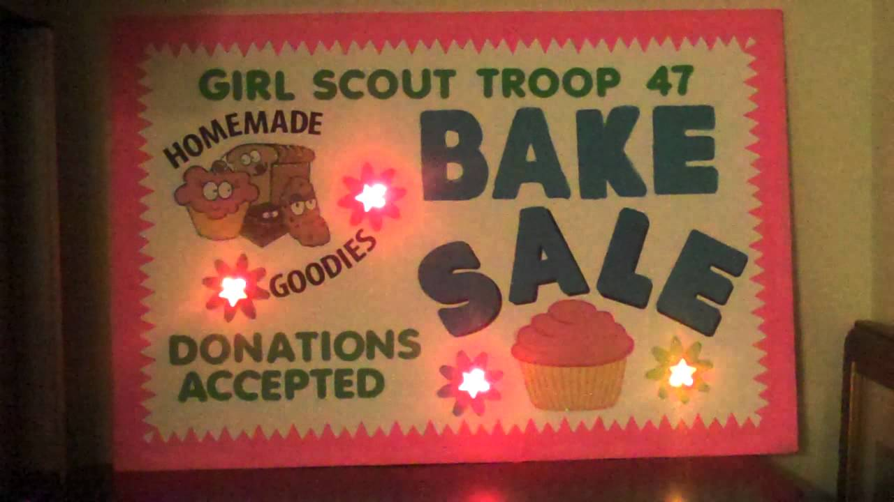 Bake Sale Poster - YouTube