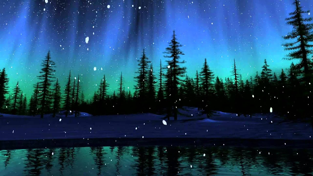 Free Animated Desktop Wallpaper Like Snow Falling On Background Dark Forrest Snow Fall Animation For Animated Desktop