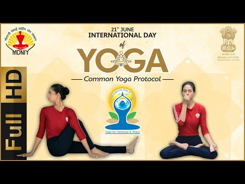 International Day of Yoga 2019 | Common Yoga Protocol | ENGLISH | FULL HD