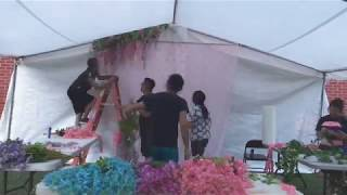 Decorating for sister's wedding! | Time Lapse