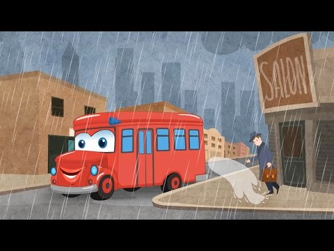 Wheels on the Bus Go Round and Round Song - Nursery Rhymes Songs by Kids Yogi
