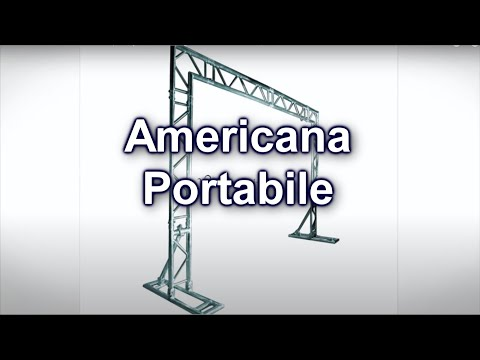 Video Americana Portatile per dj set o coreografie in stand