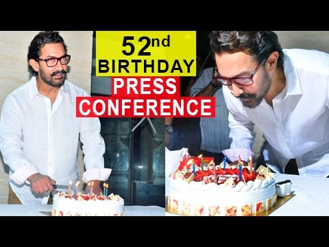 Aamir Khan 52nd Birthday Celebration Press Conference | Aamir On Nepotism And Thugs Of Hindostan