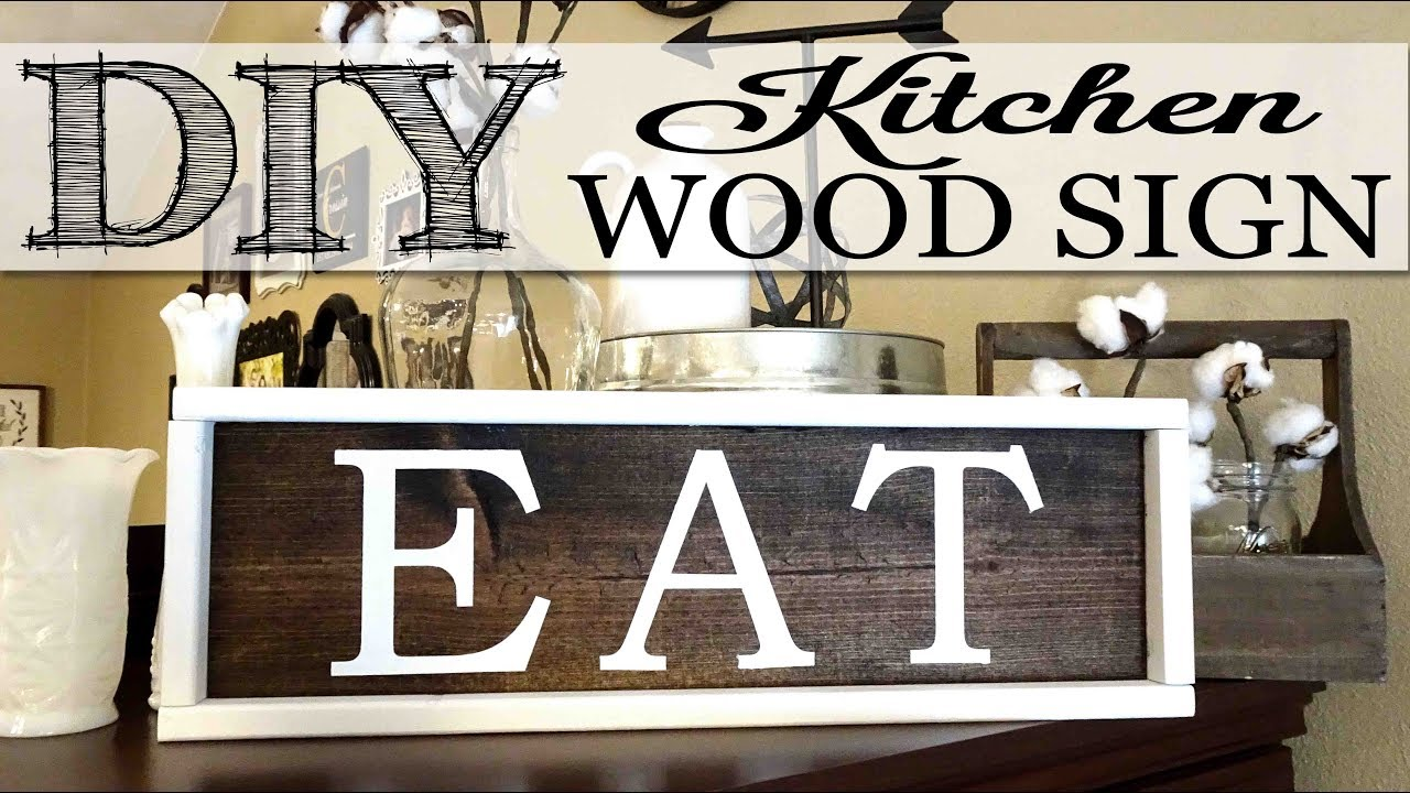 Diy Kitchen Wood Sign