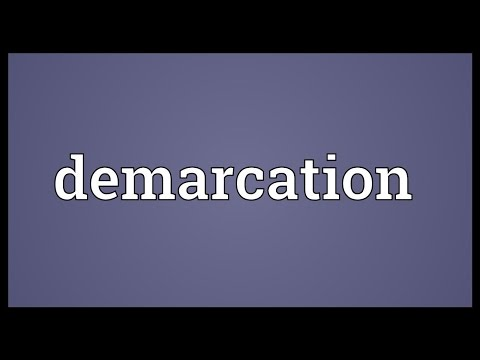 Demarcation Meaning
