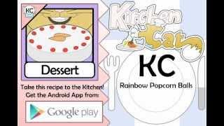 Rainbow Popcorn Balls - Kitchen Cat