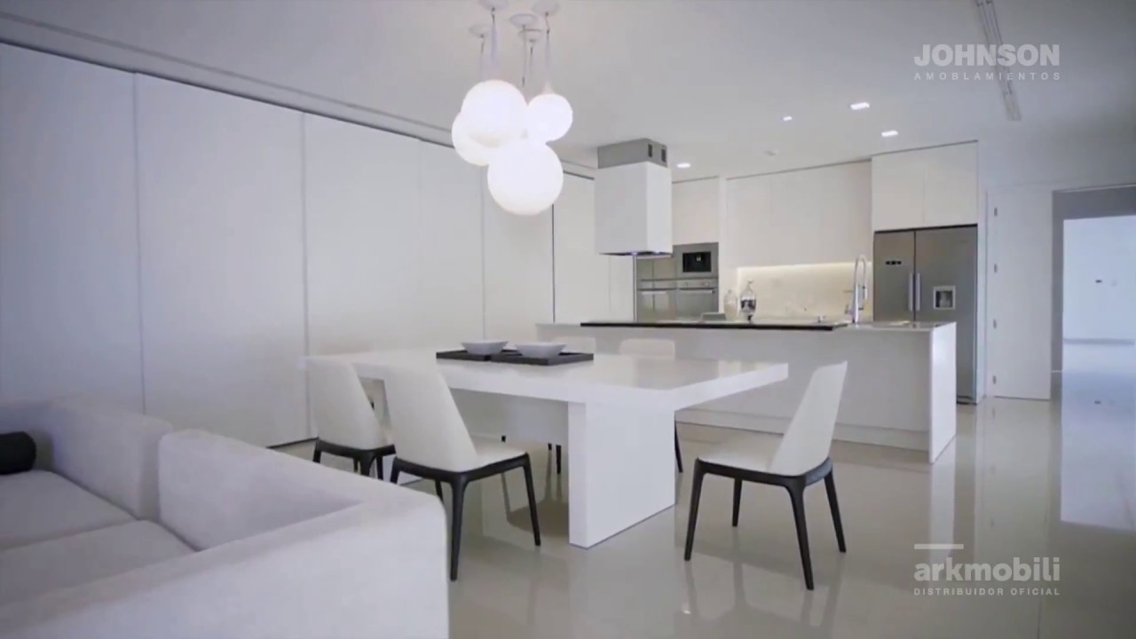 Muebles de cocina johnson modelo gofratto blanco youtube for Johnson muebles