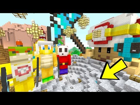 CAPTAIN TOAD TREASURE TRACK MINIGAME! [DIAMONDS!] - Mario's Nintendo Land - (Minecraft Switch) [13]