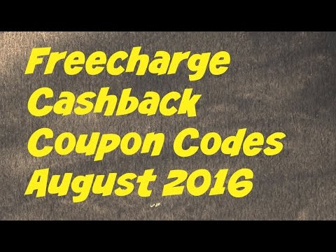 Freecharge Coupon Codes August 2016 – Working Cashback Coupons