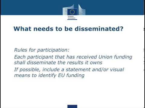 Presentation - The value of disseminating EU projects according to the European Commission