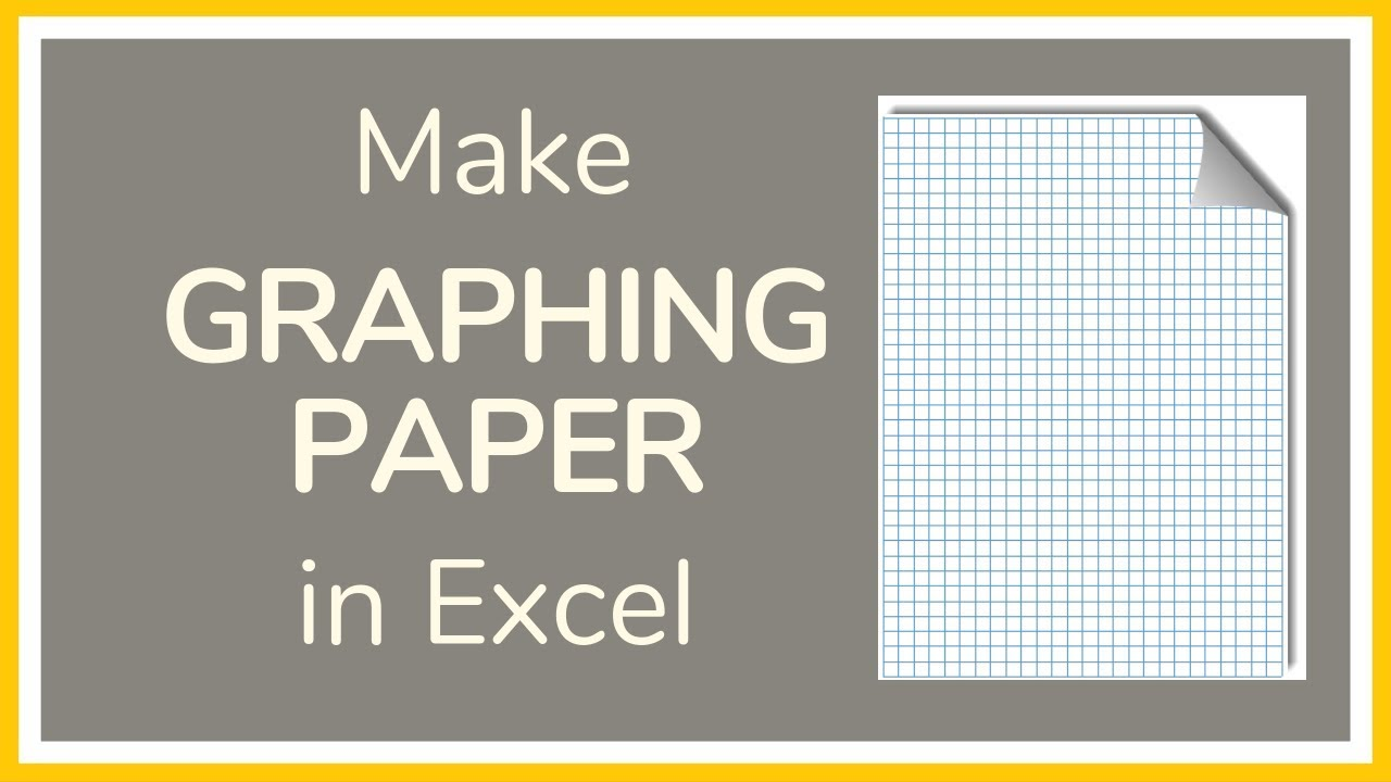 how to make graph paper in excel - tutorial