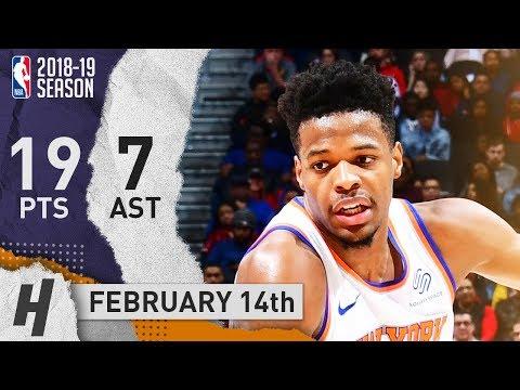 Dennis Smith Jr. Full Highlights Knicks vs Hawks 2019.02.14 - 19 Pts, 7 Ast, 2 Reb!