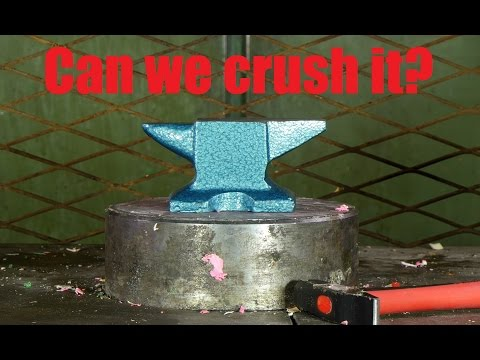Crushing Anvil With Hydraulic Press thumbnail