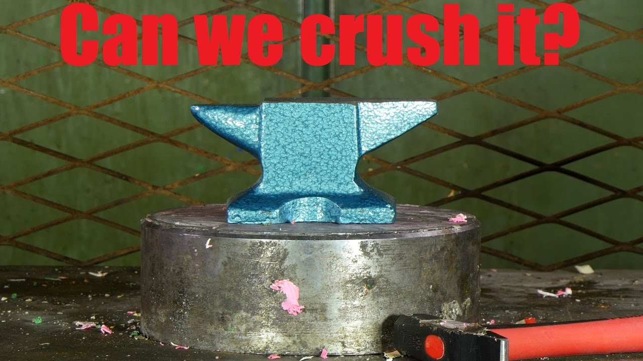 crushing anvil with hydraulic
