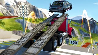 IMPOSSIBLE RAMP CHALLENGE IN ONLINE MULTIPLAYER BEAMNG! - BeamNG Drive Gameplay w/ Neilogical