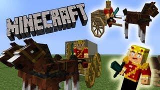 Video MineCraft Horse Wagons, Carriages, Race Horses! download MP3, 3GP, MP4, WEBM, AVI, FLV Juli 2018