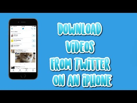 How do you download videos from twitter to your iphone