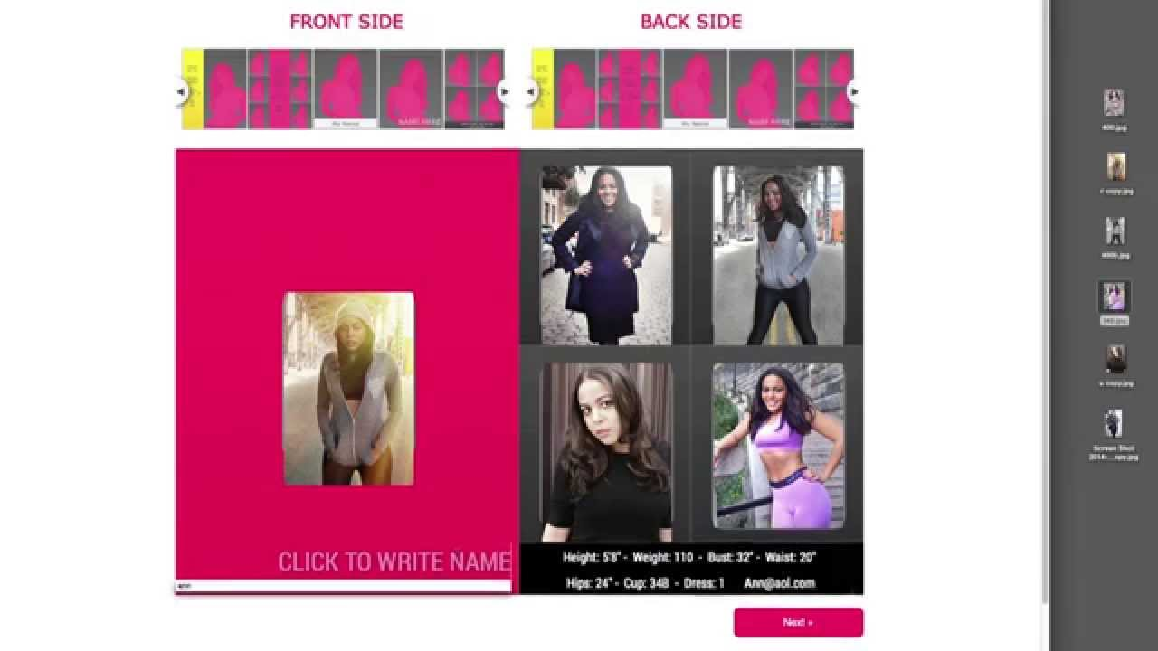 Make Your Own Modeling Comp Card