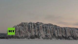 Un muro de 300 metros de alto en Yakutia recuerda a La Muralla de Juego de Tronos