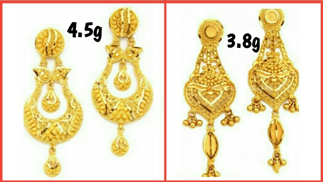 PURE GOLD EARRINGS Collection | Bride\'s Best Earrings Designs ...