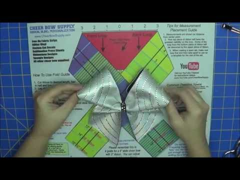How To Make A Cheer Bow With Rhinestones