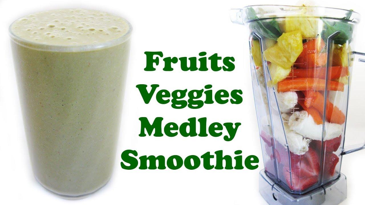 healthy fruit and veg fruit milkshake