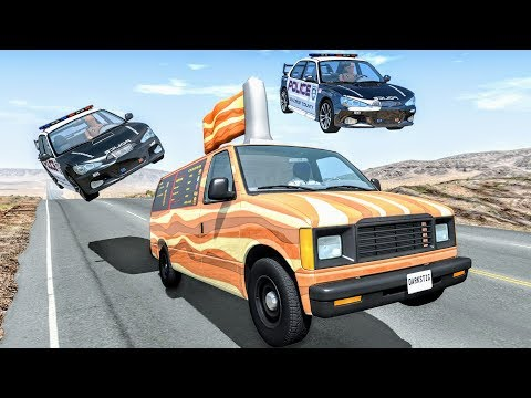 Crazy Police Chases #67 - BeamNG Drive Crashes