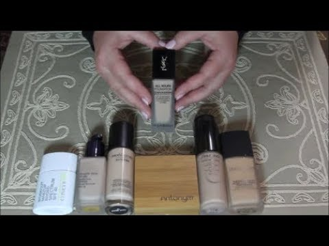 ASMR Makeup Haul & Review ~ Foundations! ~ YSL, BareMinerals