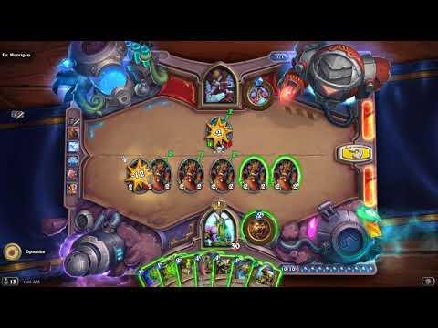 HearthStone Puzzles - Board Clear Puzzles, Dr. Morrigan Walkthrough.