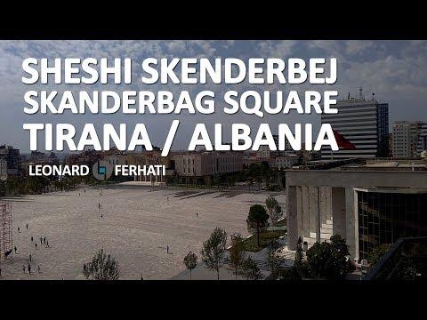 Center of Tirana Albania (Skanderbeg Square)