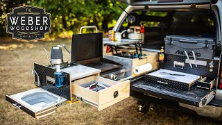 How to Build the Ultimate Overland Truck Bed Kitchen Drawers for Camping!
