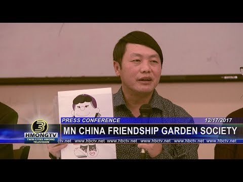 3 HMONG NEWS: Press Conference on MN China Friendship Garden.