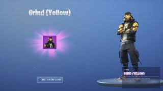 *UNLOCKING* Yellow 'GRIND' Skin FREE Fortnite REWARDS Challenge (Hang Time Bundle)