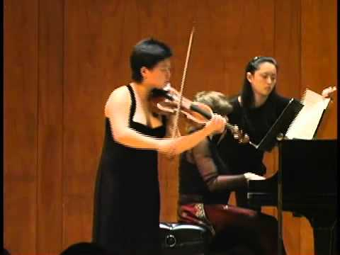 Yura Lee, violin - Janacek Sonata (1 of 4)