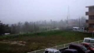台風9号沖縄本島上陸!Typhoon Muifa is hitting Okinawa