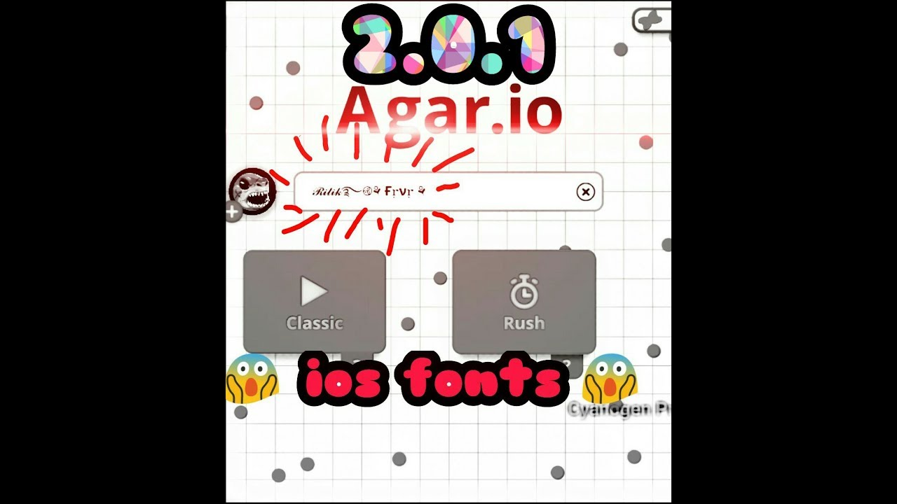 agar io party mode 2 0 1 with ios fonts apk now you can see ios