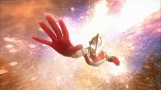 Mirai transforms into his real form, Ultraman Mebius, to fight Mira...