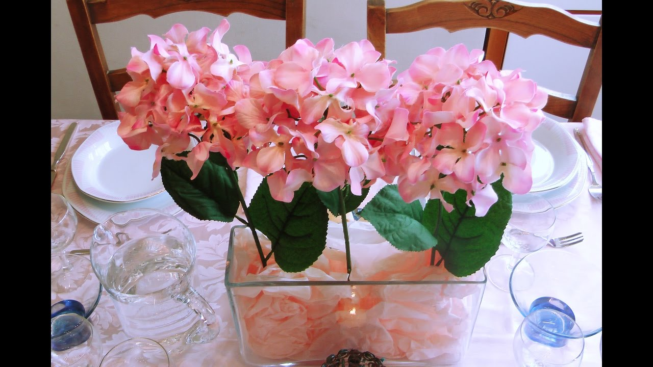 Arreglo Floral Decorar La Mesa Color Rosado Centro De Mesa Centerpiece