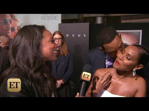 Will & Jada Pinkett Smith Get Affectionate at 'Focus' Premiere