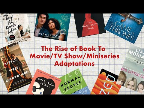 the rise of book to movie adaptations