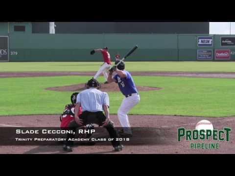 Slade Cecconi peospect video, RHP, 2 Trinity Preparatory Academy Class of 2018
