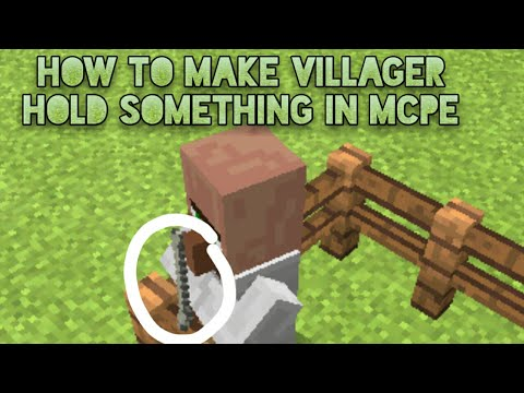 how to make a villager shop