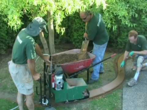 Concrete Curbing Stamped Concrete Garden Edging Youtube