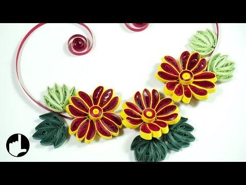 Paper Quilling Flowers: DIY Wall Decor | HandiWorks#116