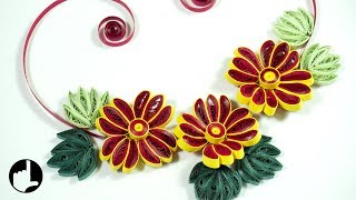 Paper Quilling: DIY Flower Design for Wall Decor