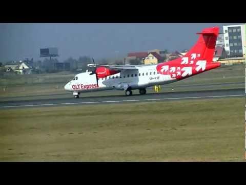 EPGD - Embraer 195 takeoff & ATR 42-300 landing