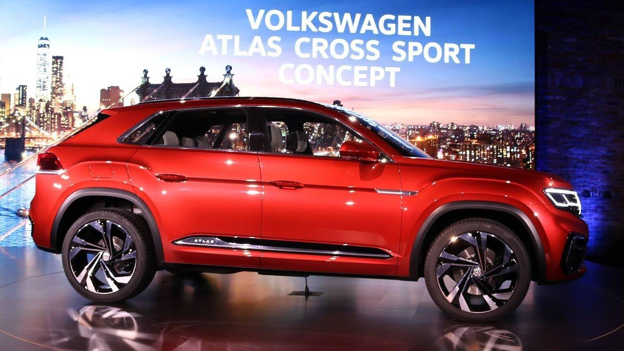 2019 Volkswagen Atlas Cross Sport Concept At The 2018 New York AUTO SHOW - YouTube