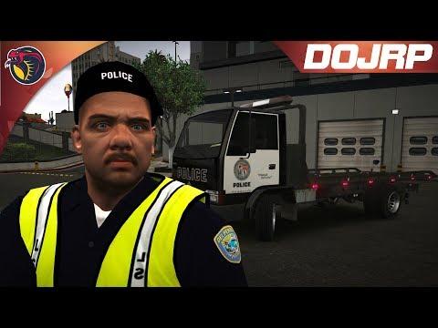 GTA 5 RolePlay   DOJRP On Patrol EP 16: Tow Truck Joe 10-8 in Service!