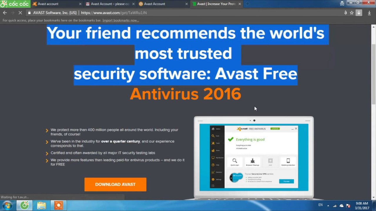 How to get FREE License Avast Internet Security 2017
